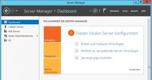 Servermanager Dashboard